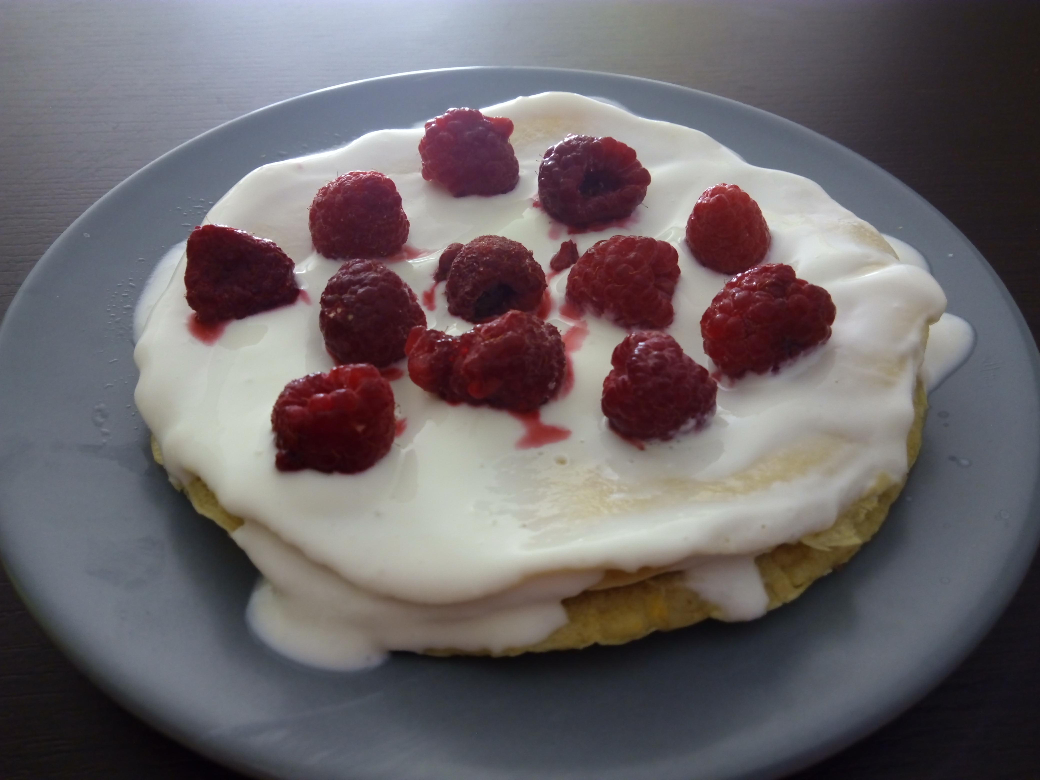 tortitas-con-yogur-y-frambuesa